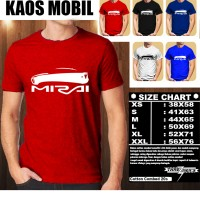 KAOS OTOMOTIF MOBIL TOYOTA MIRAI SILUET TS/Baju Tshirt Balap Distro