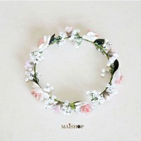 Jual Flower crown Lady Peachfast Mawar Putih Murah