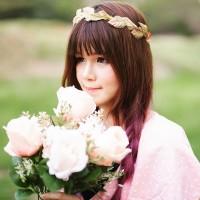 Jual Flower crown daun klasik emas coklat Murah