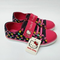 Jual Sepatu Anak Perempuan Hello Kitty - Original ANDO HK JEANS No 31-34 Murah