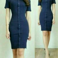 Jual Dagi navy mini dress gaun baju wanita Murah