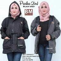 Murah PA155 All Colour jaket bb parka hitam abu premium / bb vans 2in1