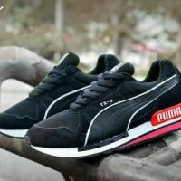 sepatu sport pria puma tx 3 black white