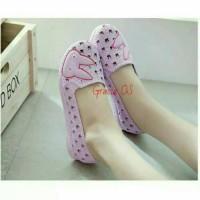 Jual Jelly Shoes Premium Cute Bunny Mom - Sepatu karet Slip on murah Murah