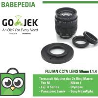 Lensa mirrorless Fujian 50mm f1.4 CCTV Lens sony,eosm,nikon,m43,fuji