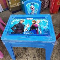 harga Kursi Dan Meja Plastik Serbaguna Anak Frozen Biru Cantik Tokopedia.com