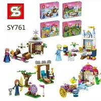 Jual SY 761 Princess Frozen Cinderella Mermaid Disney Lego Murah Friends Murah