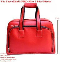 Tas Travel Kulit Suede PRD 2 Face Slim merah Best Produk