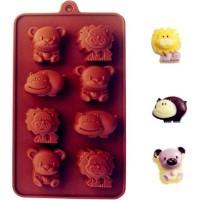 Cetakan silikon coklat es puding silicone 3 Macam Hewan