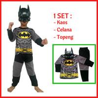 Jual Promo Baju Kaos Anak Kostum Topeng Superhero Batman/ Laki laki / Murah Murah