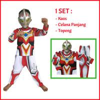Jual Promo Baju Kaos Anak Bahan Katun Kostum Topeng Superhero Ultraman Go Murah