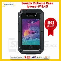 Case HP Iphone 4 4S 4G Lunatik Taktik Extreme Case Full Cover Glass