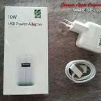 Charger Casan Apple Ipad 1 2 3 10W Original Adapter Kabel Data
