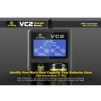 MGXtar VC2 Premium Micro USB Battery Charger 2 Slot for Li-ion&Ni-Mh