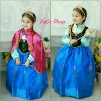 Jual Gaun Anna Frozen / dress baju pesta impor Murah