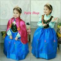 Gaun Anna Frozen / dress baju pesta impor