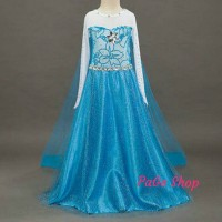 Jual Gaun Elsa Frozen / dress baju pesta impor Murah