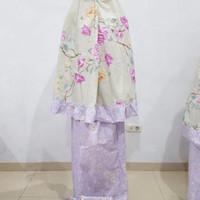 PROMO Mukena Katun Jepang Satu Set Ibu Dan Anak Original ungu MURAH