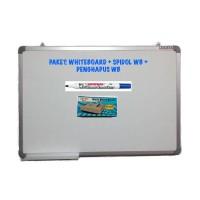 PAKET Whiteboard Magnetic Sakana 60x90 + Spidol WB + Penghapus WB