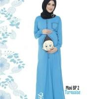 Baju hamil motif lucu dan trendy model maxi dress