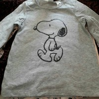 h&m snoopy long sleeves kids size 12-18m