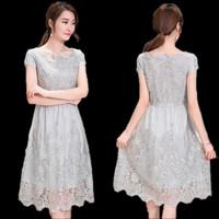 Jual Dress Baju Gaun Pesta Wanita Elegant Korea chiffon brokat gauze 541 Murah