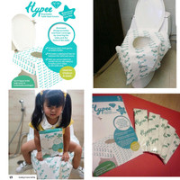 Toilet Seat Cover Disposable Alas Duduk Kloset Umum HYPEE (PACK isi 5)