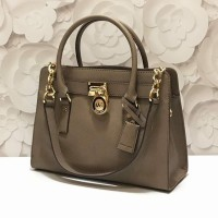 Michael Kors Hamilton East West Satchel (Dark Dune)