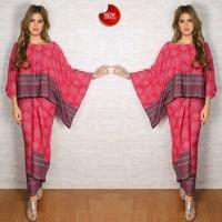Baju Gamis Model kalong Dan Rok lilit Batik Fashion Muslim Wanita