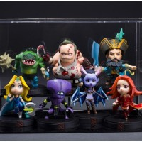 Action figure DOTA 2 Pudge Kunkka Tidehunter QOP Maiden Lina set 7pcs