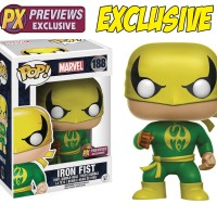 PX EXCLUSIVE Iron Fist #188 Marvel-Iron Fist en stock Funko Pop