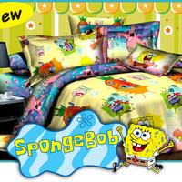 Jual Sprei Fata Spongebob 160x200 Murah