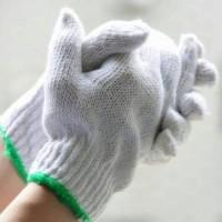 sarung tangan tukang rajut katun untuk pekerja bangunan