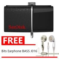 Sandisk OTG Ultra Dual USB 3.0 - 32GB FREE Bits Earphone Bas W275J016