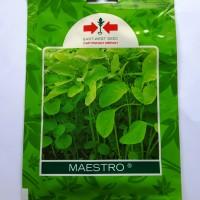 1 Pack 26000 Benih Bibit Sayuran Bayam Hijau Maestro Cap Panah Merah