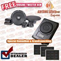 Paket Audio Mobil Speaker Morel dan Sub Aktif By Cartens Store