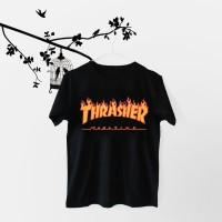 Jual Tumblr Tee / T-Shirt / Kaos Wanita Lengan Pendek Thrasher Warna Hitam Murah