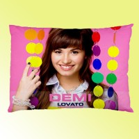 Sarung Bantal custom Demi Lovato 45x65 cm gambar 2 sisi