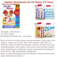 Gakken Workbooks Go Go Mazes 3-5 Years