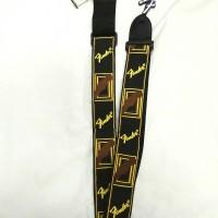 Strap Gitar / Bass Fender Monogrammed Black Brown Yellow