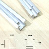 Rel lemari geser / sliding GYS atas+bawah 3MTR /B