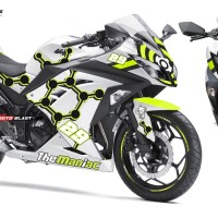 Decal stiker Kawasaki Ninja 250RFi The Maniac