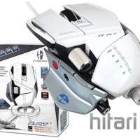 Madcatz Cyborg RAT7/RAT 7/R.A.T7/R.A.T 7 Contangion White Gaming Mouse