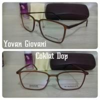 Kacamata Frame Giordano coklat dop Gratis lensa minus/clinder/plus