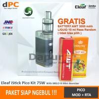 Jual Paket Ngebul Rokok Elektrik Eleaf Istick Pico 75W [Battery+Liquid] Murah