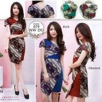 Batik Fashion Wanita Smash Newada Dress