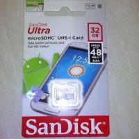 Jual Memory Card MicroSD SanDisk Ultra 32 Gb C10 Gratis Voucher MAP 50.000 Murah