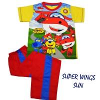 SUPER WINGS SUN Setelan Celana Panjang Anak cowok Produk Anne Claire.