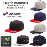 Topi Flexfit Premium Classic Snapback 2-Tone 6089MT ORI