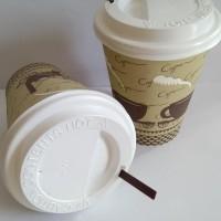 Jual GELAS KERTAS KOPI + TUTUP + SEDOTAN / PAPER CUP MOTIF COFFEE 8 0Z Murah